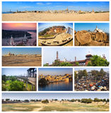 Collage von Marksteinen von Indien stockbild