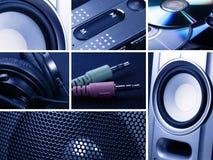 Collage von Musik Stockfoto