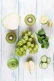 Collage von Obst und Gemüse von Lizenzfreies Stockfoto