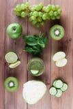 Collage von Obst und Gemüse von Stockbilder