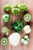 Collage von Obst und Gemüse von Stockfotos