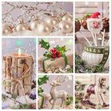 Collage von Pastelldekorationen Stockbild