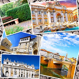 Collage von schönem Italien Stockfotografie