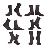 Collage von Socken Stockfotos