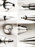 Collage von Stifttipps stockfoto