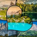 Collage von touristischen Fotos des Italiens stockbilder