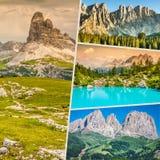 Collage von touristischen Fotos des Italiens stockfotos