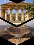 Collage von touristischen Fotos des Italiens stockfoto