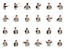Collage von verschiedenen Gesichtsausdrücken Lizenzfreie Stockfotos
