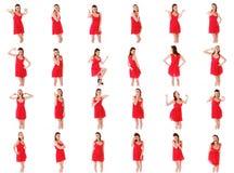 Collage von verschiedenen Gesichtsausdrücken Stockbild