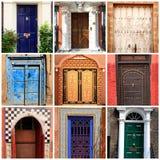 Collage von verschiedenen Türen und von Toren aus der ganzen Welt Stockbilder