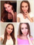 Collage von vier Fotos gemacht durch Smartphone Lizenzfreie Stockfotografie