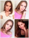 Collage von vier Fotos gemacht durch Smartphone Stockfoto