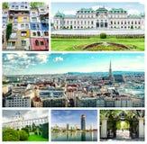 Collage von Wien. stockfotografie