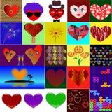 Collage voor de Dag van Valentine ` s Stock Fotografie