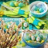 Collage voor Pasen tijd Stock Fotografie