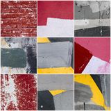 Collage of wall Texture Royalty Free Stock Images