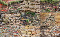Collage with wall textures Royalty Free Stock Images