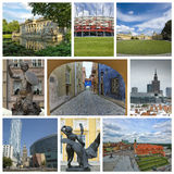Collage from Warsaw Stock Image