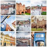 Collage from Warsaw Royalty Free Stock Photos