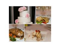 Collage Of Wedding Details stock images