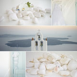 Collage of wedding details. In pastel colors Royalty Free Stock Photo