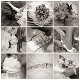 Collage from wedding photos. Nine in one Royalty Free Stock Image