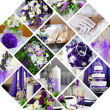 Collage of wedding photos Royalty Free Stock Images