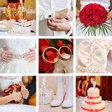 Collage of wedding red Stock Images