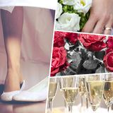 Collage of Wedding time sensational royalty free stock photos