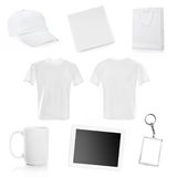 Collage of white objects Stock Images