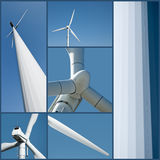 Collage of a Wind Turbine Stock Photos
