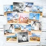 Collage windmills Royalty Free Stock Photography