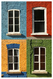 Collage of 4 windows Stock Photography