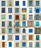 Collage of windows from greece Royalty Free Stock Photo