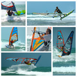 Collage windsurf stockfotos