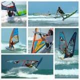 Collage windsurf Stock Photos