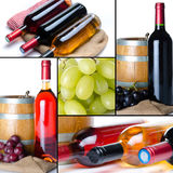 Collage of wine Stock Photo