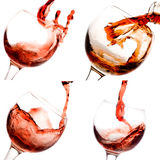 Collage of wine shots Royalty Free Stock Photography