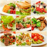Collage With Meals Royalty Free Stock Images