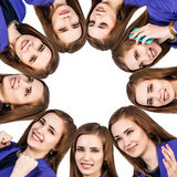 Collage of woman with different emotions Stock Photo
