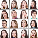 Collage of woman different emotions Stock Photography