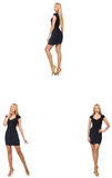 The collage of woman in fashion look isolated on white Royalty Free Stock Photography