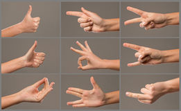 Collage of woman hands Royalty Free Stock Images