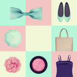 Collage of women's clothing Royalty Free Stock Images