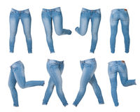 Collage of women's jeans Royalty Free Stock Photo