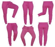Collage of women's pink pants Stock Photography