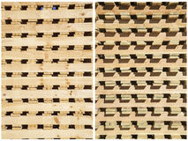 Collage wooden pallet stacks ends background Royalty Free Stock Photography