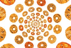 Collage y fondo abstractos de las pastillas de fruta dulces Fotos de archivo libres de regalías