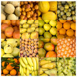 Collage of yellow and orange fruits Stock Image